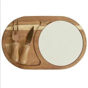 Twine Living&Co Wooden & Ceramic Cheese Board Set